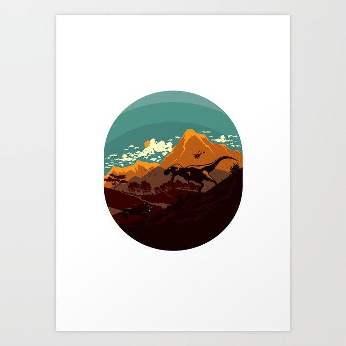 Jurassic Escape Art Print