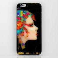 glitch iPhone & iPod Skins featuring Glitch by Steve W Schwartz Art