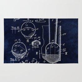 Ice Cream Scoop Blueprint Rug