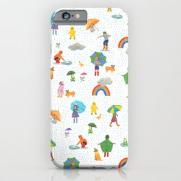 Fun on a Rainy Day iPhone Case
