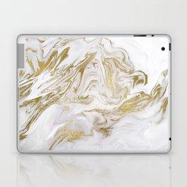 Liquid gold marble II Laptop & iPad Skin
