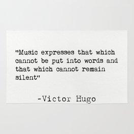 Victor Hugo quote Rug