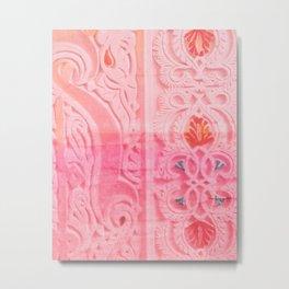 Oriental Carvings And Ornaments - ornament closeup Metal Print