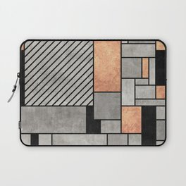 Random Pattern - Concrete and Copper Laptop Sleeve