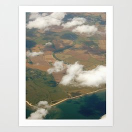 view from a plane Art Print