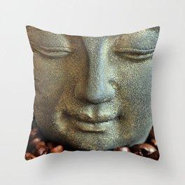 Coffee Buddha 3 Throw Pillow