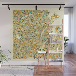 COPENHAGEN MAP Wall Mural