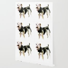 Airedale Terrier on watercolor Wallpaper