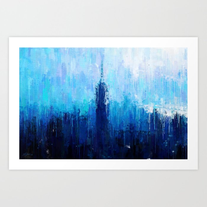 Empire State Building - New York City - Cityscape Wall Art, Poster ...