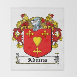 Family Crest - Adams - Coat of Arms Throw Blanket