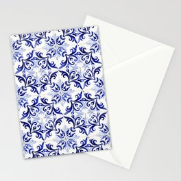 Azulejo V - Portuguese hand painted tiles Stationery Cards