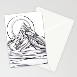 'Crystal Mountain Peaks' Stationery Cards