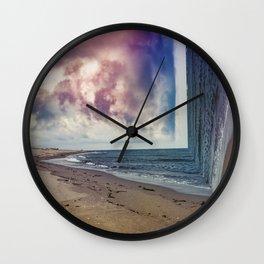 folds of the sea Wall Clock