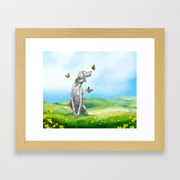 KIKI AND BUTTERFLIES Framed Art Print