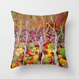 Fruit Salad Cups! Throw Pillow