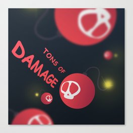 Tons of damage Canvas Print