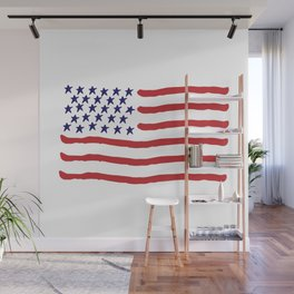 The Star-Spangled Banner / USA Flag / Hand-painted Wall Mural