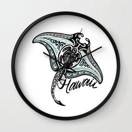 Hawaiian Tribal Ray Wall Clock