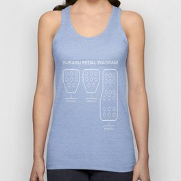 Subaru Pedal Diagram Unisex Tank Top