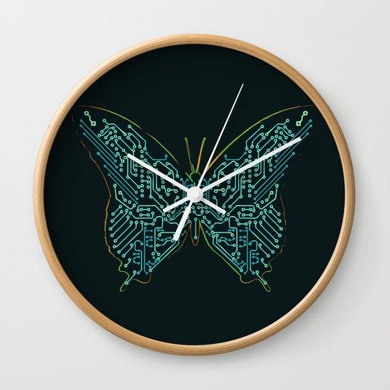 Mechanical Butterfly Wall Clock