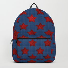 Abstract stars geometric retro seamless pattern background texture Backpack