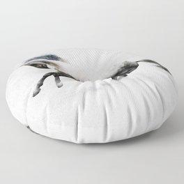 White Stallion Floor Pillow