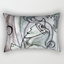 Abstract Nude Goddess No. 40O by Kathy Morton Stanion Rectangular Pillow