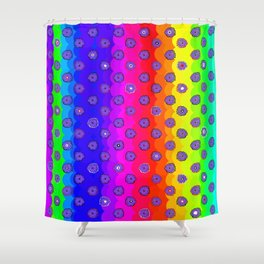 Rainbow and purple flowers Shower Curtain