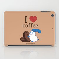 coffe iPad Cases featuring Ernest | Love coffe by Hisame Artwork