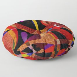 Abstract red expression Floor Pillow