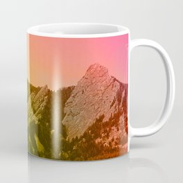 Boulder Colorado Flatirons Decor \\ Chautauqua Park Sunset Red Yellow Photo Nature Bohemian Style Coffee Mug