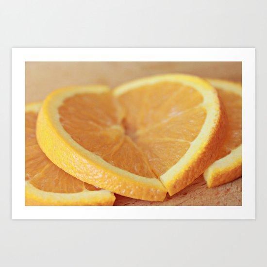 Fresh Orange Slices Art Print