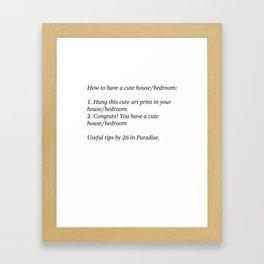 Useful Tips #1 Framed Art Print