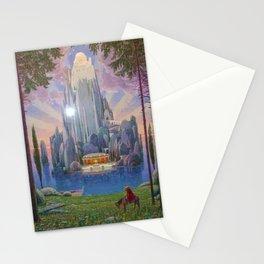 The Secret Kingdom magical realism landscape painting by Joseph Madlener Stationery Cards