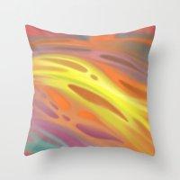 aurora Throw Pillows featuring Aurora by Ma. Luisa Gonzaga