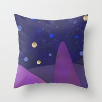 cabin Throw Pillows featuring Cabin Fever by Olivia James