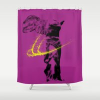 nike Shower Curtains featuring nike of samothrace by veronica ∨∧