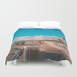 South Pointe Pier Boardwalk Duvet Cover