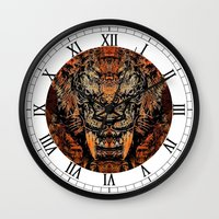 tooth Wall Clocks featuring Saber Tooth by Zandonai