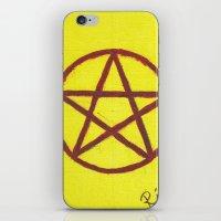 pentagram iPhone & iPod Skins featuring Pentagram by Ria-Ra