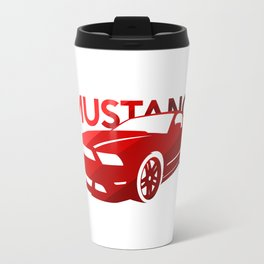 Ford Mustang Boss - classic red - Travel Mug