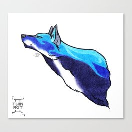 Water Wolf Canvas Print