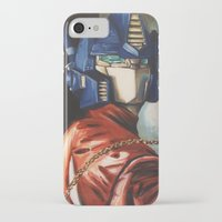 optimus prime iPhone & iPod Cases featuring Optimus Prime With Sunflower by Hillary White