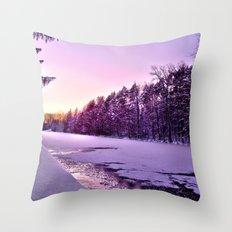 Frozen Voyage Throw Pillow