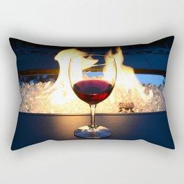 Fireside Wine II Rectangular Pillow