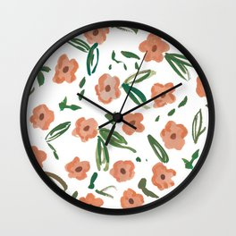 Live Simply Floral Pattern Wall Clock