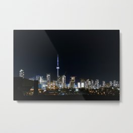 Toronto Skyline @ Night Metal Print