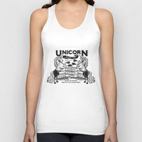boxing Tank Tops featuring Unicorn Boxing by Kellabell9