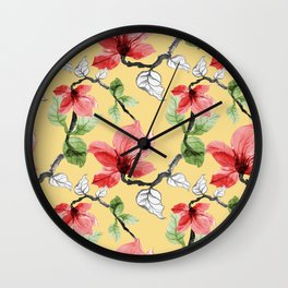 Flower painting pattern Wall Clock
