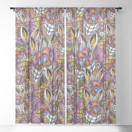 Steampunk Bunny Rabbit Sheer Curtain